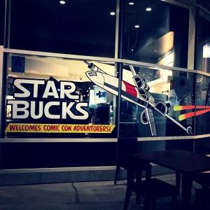 Window art at the neighboring Starbucks.